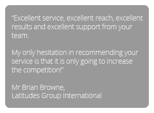 Testimonial - Excellent service, excellent reach, excellent results and excellent support from your team